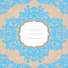 set of four blue cards with semi circle ornaments vector clipart