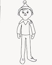 christmas coloring pages elf shelf reindeer kids coloring