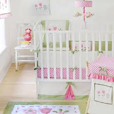 Grey And Green Crib Bedding Green And Pink Crib Bedding Home Inspirations Design Pink Crib