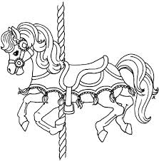 carousel pony horse colouring happy colouring