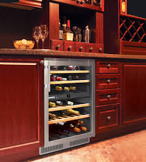 Wine Racks In Kitchen Cabinets 24 Built In Wine Cooler Undercounter Wine Refrigerator Teak Wood