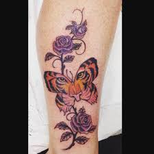 Flower Butterfly Tattoos 01 50 Tiger Butterfly Tattoos Designs With Meanings