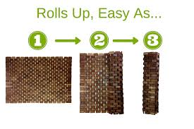 folding teak wood bath shower mat with non slip feet easily rolls folding teak wood bath shower mat with non slip feet easily rolls up