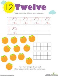 tracing numbers u0026 counting 12 worksheet education com