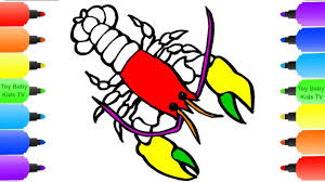 lobster coloring pages for kids how to draw shrimp monster