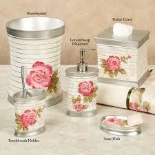 Blue Bathroom Accessories by Home Bath Bath Accessories Spring Rose Floral Bath Accessories