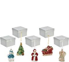 Lenox Christmas Ornaments Set Of 5 by Set Of 5 Mercury Glass Ornaments With Gift Boxes By Valerie Page