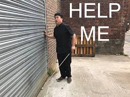 Blind Man Cane I U0027m A Blind Guy Traveling All By Myself Please Help Alex Man
