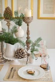 winter tischdeko selber machen naturmaterialien und winterliches weiß
