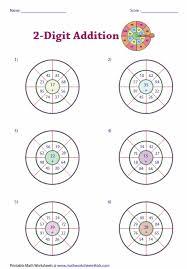 Digit Math Worksheets 2 Digit Addition Worksheets