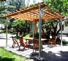 Pergola Top Ideas by Contemporary Aluminum Post Wood Top Pergola Http