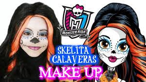 monster high skelita halloween costume monster high skelita calaveras maquillage pour halloween collab