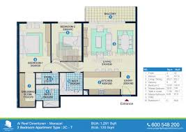 Floor Plan 2 Bedroom Apartment Floor Plan Of Al Reef Downtown Al Reef Village