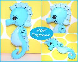 pdf pattern seahorse felt doll pattern felt seahorse