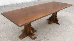antique looking dining tables tudor style large oak walnut refectory dining table
