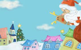 wallpapers cute santa claus christmas illustration iphone 5