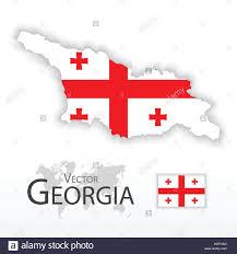 Georgia Flag Georgia Republic Of Georgia Flag And Map Transportation