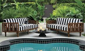Pool And Patio Decor Patio Furniture And Decor Trend Bold Black And White