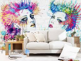 3d graffiti paint women bricks wall murals wallpaper wall art 3d graffiti paint women bricks wall murals wallpaper wall art decals decor idcwp ty