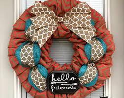 summer burlap wreath etsy
