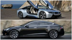 electric vehicles tesla bmw and tesla met up to discuss the future of electric cars