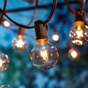 Patio String Lights Walmart Better Homes And Gardens Outdoor Glass Edison String Lights 10