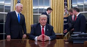 trump in oval office churchill bust returns to trump s gilded oval office politico