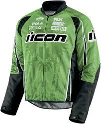 green motorcycle jacket icon hooligan 2 threshold textile jacket green