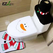 wholesale decoration for home santa toilet seat cover