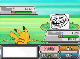 Pokemon Battle Meme - troll pokemon battle blank template imgflip