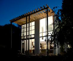 Glass Wall House by Stick System Curtain Wall Aluminum And Glass Si5000 Solar