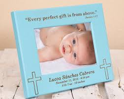 Baptism Engraving New Baby Gift Personalized Picture Frames Gift For Parents