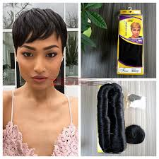 pics pf extentions with short hair 3pcs short hair weave real virgin human hair extension a free