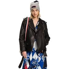 Outerwear Black Tommy Hilfiger Boyfriend Motorcycle Jacket