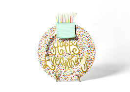 coton colors happy everything plate toss happy everything big platter with sparkle cake big