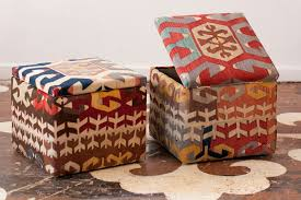 Ikat Storage Ottoman Gorgeous Kilim Storage Ottoman With Storage Ottomans Modern