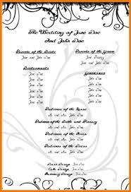 Printable Wedding Programs Templates Free Wedding Program Templates Authorization Letter Pdf
