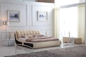 canapé king size moderne en cuir canapé lit king size souple 802 dans lits de meubles
