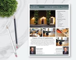 real estate flyers etsy