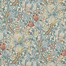 golden lily wallpaper slate manilla 210401 william morris