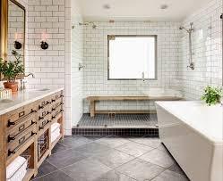 Slate Tile Bathroom Designs by Slate Tile Bathroom With Spa Stools Clean