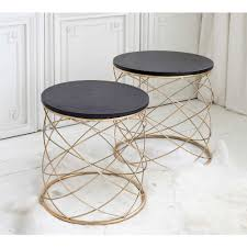 Outdoor Metal Side Table Torsade Metal Side Table Nest Side Table