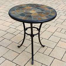 Round Stone Patio Table by Oakland Living Stone Art Cast Aluminum Patio Bistro Table Coffee