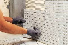 Mosaic Tile Installation Installation Of Mosaic Tiles Stock Photo Image Of Professional