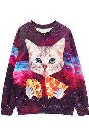 galaxy sweater harajuku galaxy cat sweater j fashion