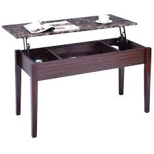 solid wood coffee table with lift top table with hidden storage faux marble lift top coffee w compartment
