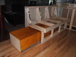 Diy Storage Bench Plans by 136 Best Rv Ideas Images On Pinterest Kitchen Kitchen Banquette