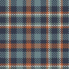 navy terra cotta blue gray and green gray bayeux plaid fabric