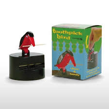 bird toothpick dispenser retro toothpick dispenser with black and red bird free shipping
