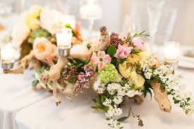 driftwood centerpieces a comfortable and colorful waterfront wedding in rhode island